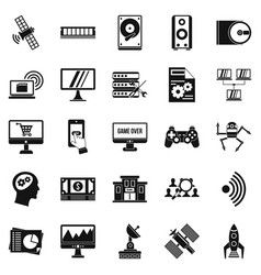Manual icons set simple style vector