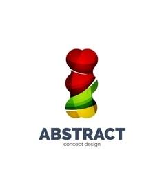 Modern abstract futuristic logo vector image vector image