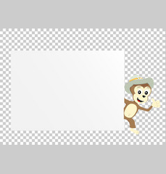 Monkey paper transparent vector