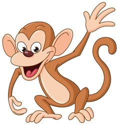 Monkey waving vector