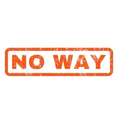 No way rubber stamp vector