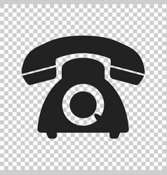 Phone icon old vintage telephone symbol vector