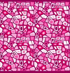 Pink futuristic mosaic vector