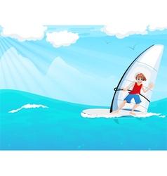 Sailboarding vector
