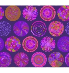 Seamless pattern with hand drawn neon circle vector