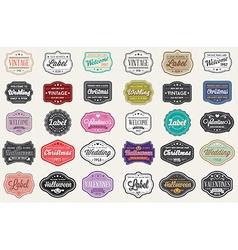 Set of Vintage Retro Styled Premium Design Labels vector image vector image