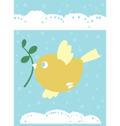 Spring bird vector image