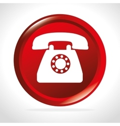Telephone free shipping delivery icon vector