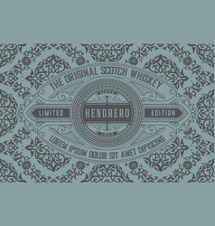 Vintage card template with pattern vector