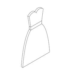 Wedding dress icon isometric 3d style vector image vector image