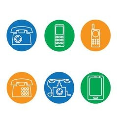 Phone icons round vector