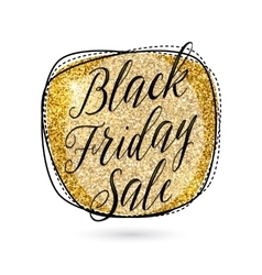 Gold black friday sale vector