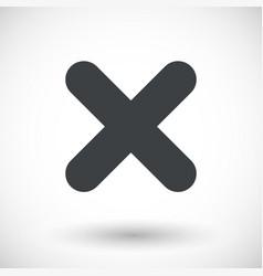 single close mark flat icon vector image
