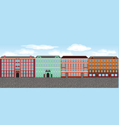 europe city street set 2 multi-colored vector image