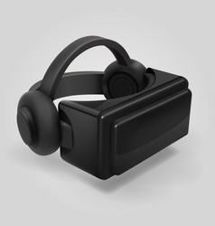 Virtual reality 3d futuristic glasses display vr vector