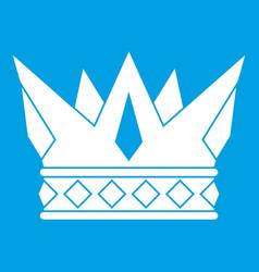 Cog crown icon white vector