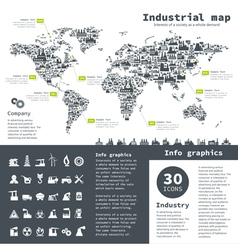 Industrial map vector