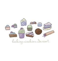 Dessert Set vector image