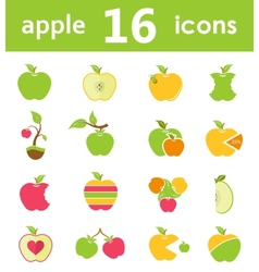 Set of logos and symbols of apples vector