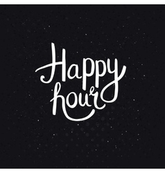 Happy hours phase on abstract black background vector