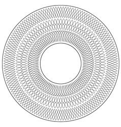Circular Guilloche pattern rosette vector image