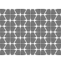 Design seamless checked hexagon pattern vector