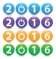 2016 colored set vector