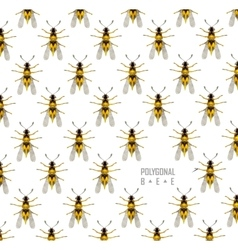 Bee isolated on the white vector