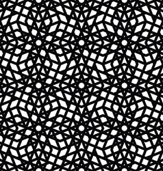 Geometric messy lined seamless pattern monochrome vector