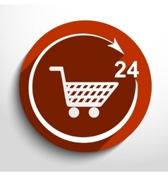 Shop icon 24 hours service vector