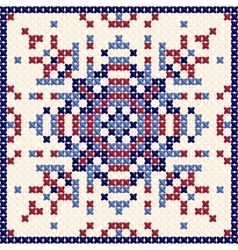 Cross stitch pattern scandinavian ornament vector