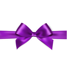 Shiny purple satin ribbon on white background vector image