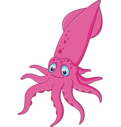 Funny octopus cartoon vector