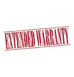 Extended warranty red grunge vintage stamp vector