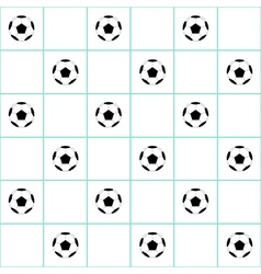 Football ball mint green grid white background vector