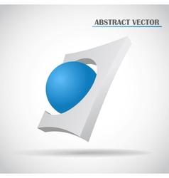 abstract ball vector image vector image