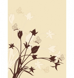 abstract floral background with tulips vector image vector image