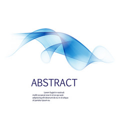 abstract waves background in blue color isolated vector image vector image