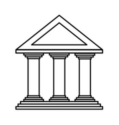 bank building icon vector image vector image