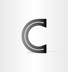 Black letter c font icon design vector