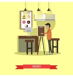 Coffee house cafe shop concept vector