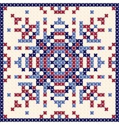 Cross stitch pattern Scandinavian ornament vector image