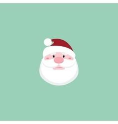 Cute Santa claus face vector image