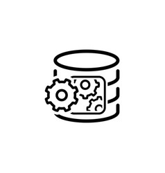 data processing icon flat design vector image vector image