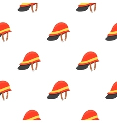 Firefighter helmet icon cartoon pattern vector
