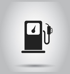 Fuel gas station icon on isolated background vector