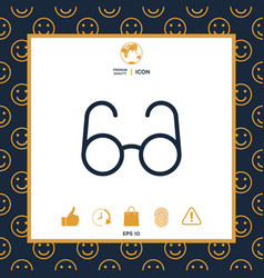 glasses symbol - search icon vector image