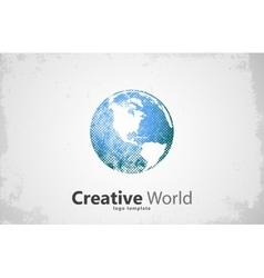 Globe logo creative world design creative logo vector
