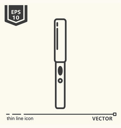 hairdressing - icons series hair straightener vector image