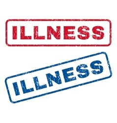 Illness rubber stamps vector